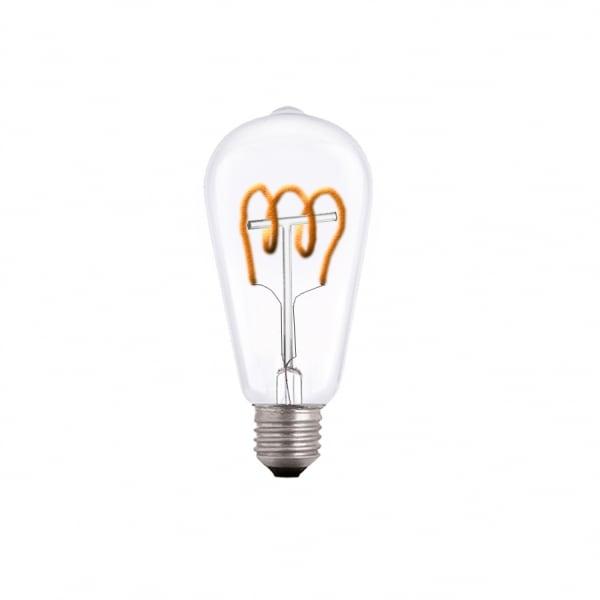 Bulb spiralat LED decorativ exclusiv E27 3.5W 2000k 230V