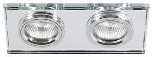 Ss-21 Ch / Tr Mr16 Dual 2X50W Tavan cromat dreptunghi fix sticlă transparentă small 0