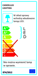 Lampă Alma perete 6W + 3W Led alb small 1