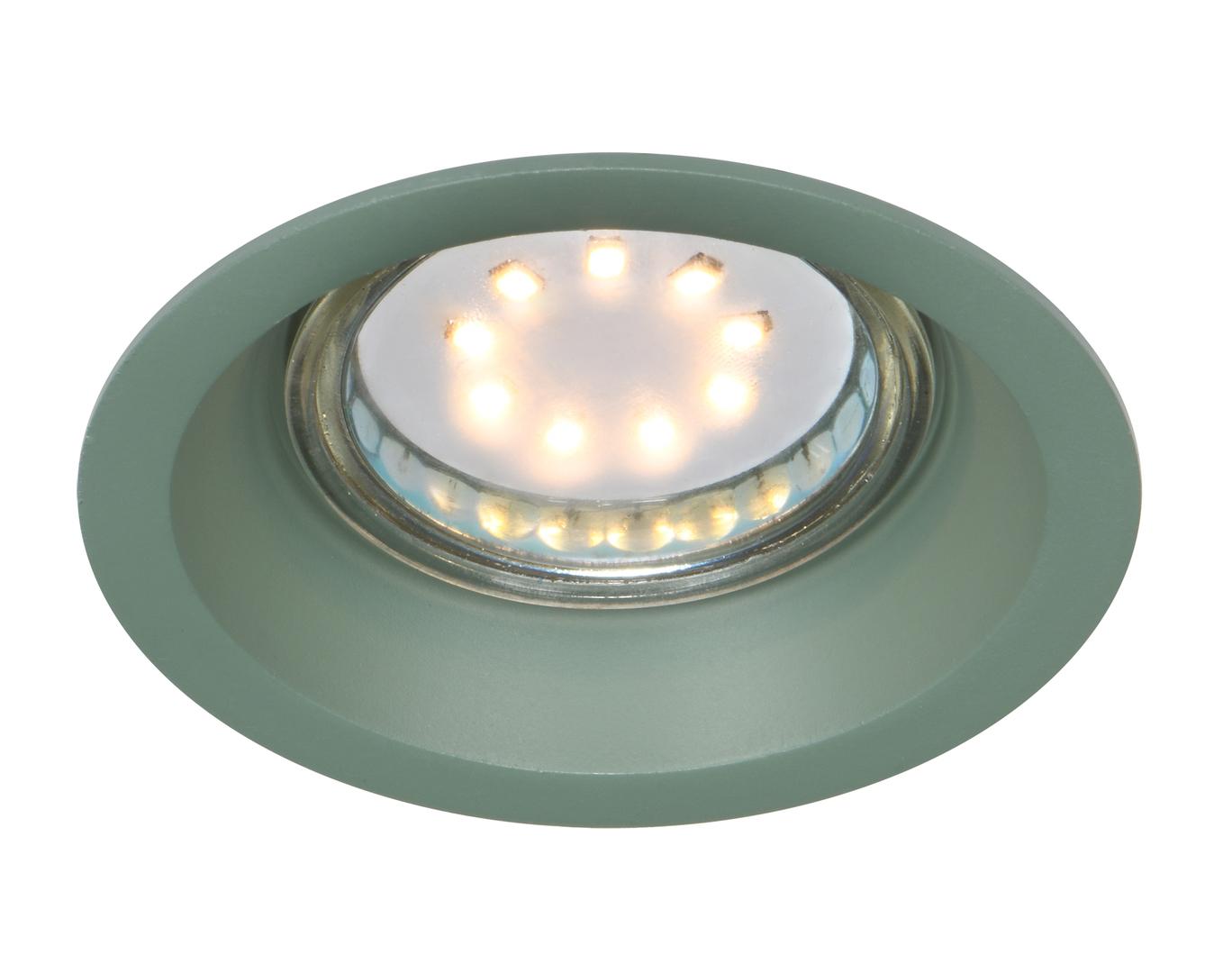 Sa-12 Gr Gu10 Max 35W 230V Lampă de tavan cu ochiuri Culoare verde aluminiu