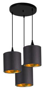 Lampă cu pandantiv lung 3X40W E14 Negru small 0