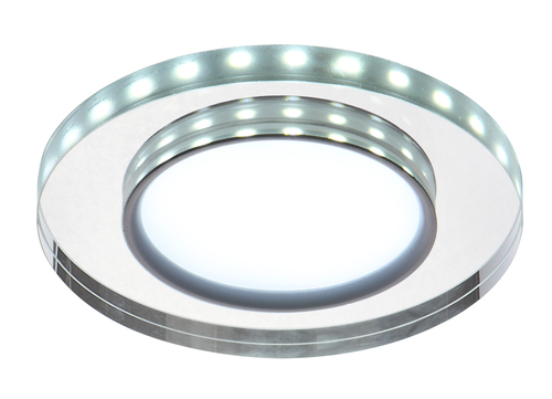 Ssp-23 Ch / Tr + Wh 8W LED 230V Ring Led White Eyelet Plafon tavan Fixed Round Glass Transparent