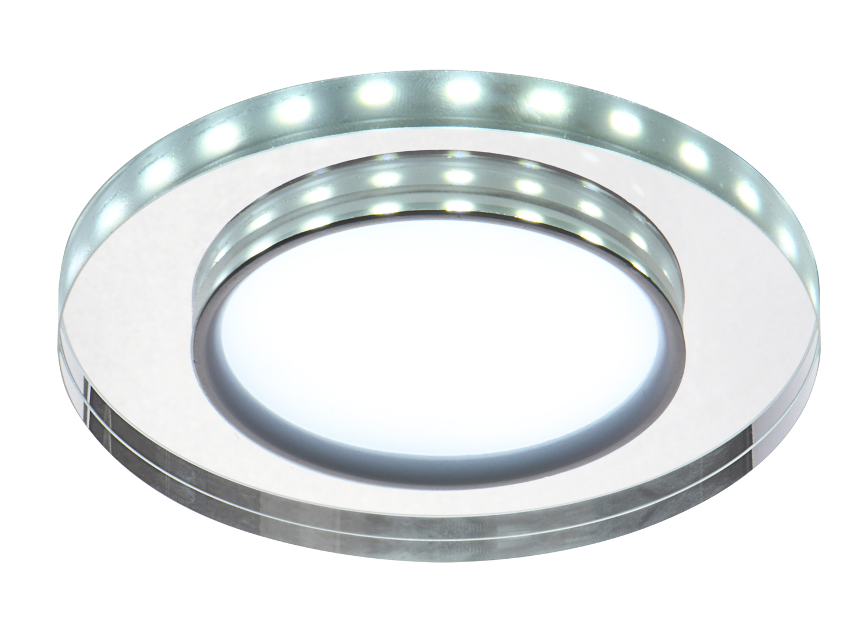 Ssp-23 Ch / Tr + Wh 8W LED 230V Ring Led White Eyelet Plafon tavan Fixed Round Glass Transparent
