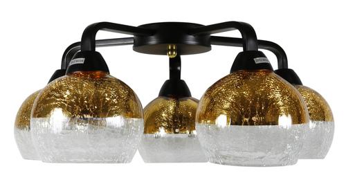 Plafoniera Cromina Gold 5X60W E27 Negru