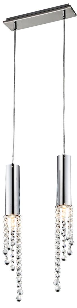 Lampă suspendată Duero 2X3W Led Gu10 Chrome