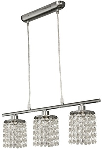 Lampă suspendată Royal 3X40W G9 Chrome + Cristale small 0