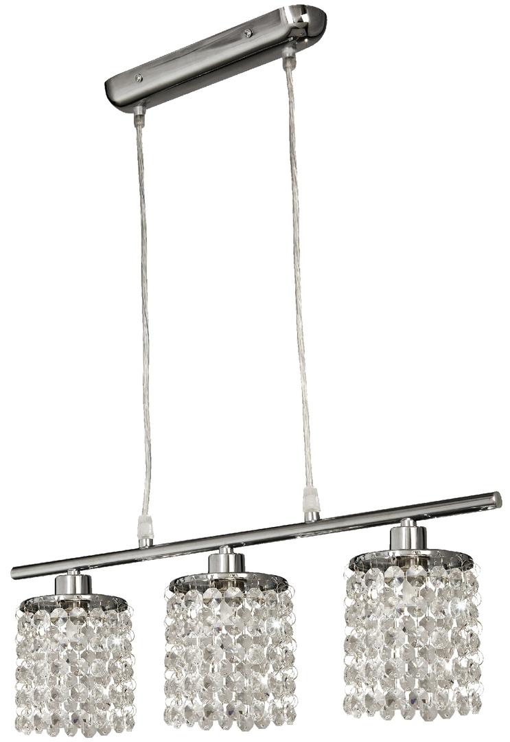 Lampă suspendată Royal 3X40W G9 Chrome + Cristale