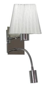 Lampă de perete Sylwana Lampă 1X40W E14 + Led cu întrerupător Chrome / pătrat alb small 0