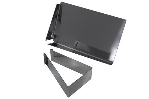 Un instrument vechi / tavă de cărămidă pentru chituirea clincherului 2in1 din oțel inoxidabil