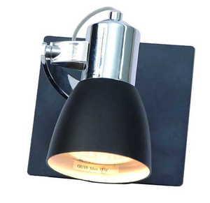 O lampă de perete unică modernă Ravenna 1 negru small 0