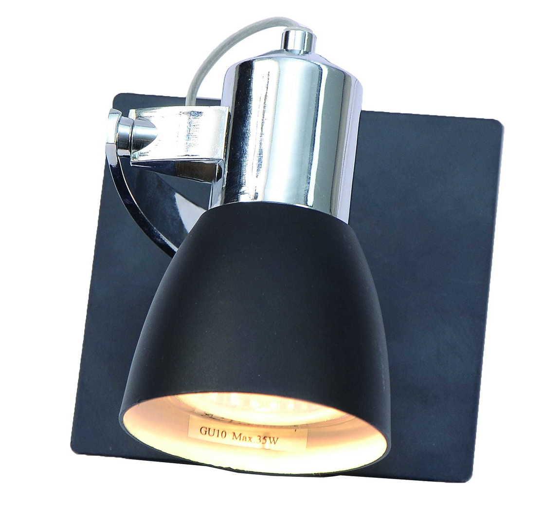 O lampă de perete unică modernă Ravenna 1 negru
