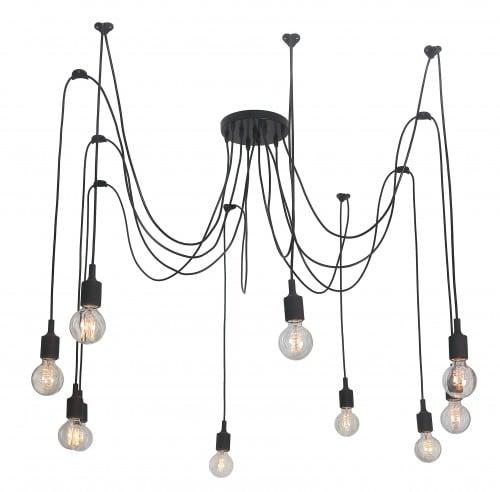 Lampa suspendată Soleto Spider 10 umăr Loft