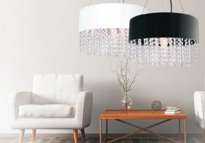 Madrid lampă agățată diamante Glamour alb small 1