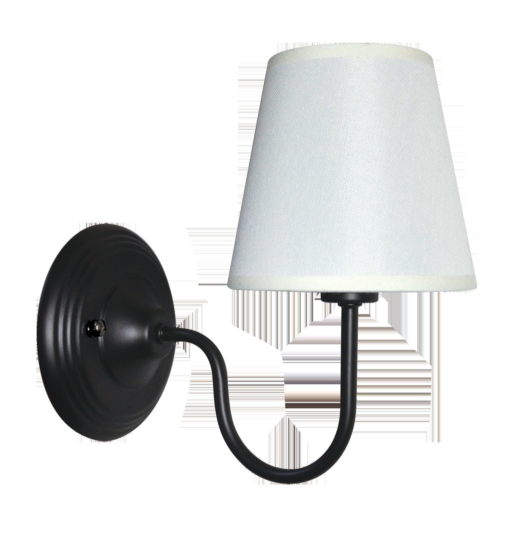 Aplica neagra Verona minimalista cu nuanta de alb