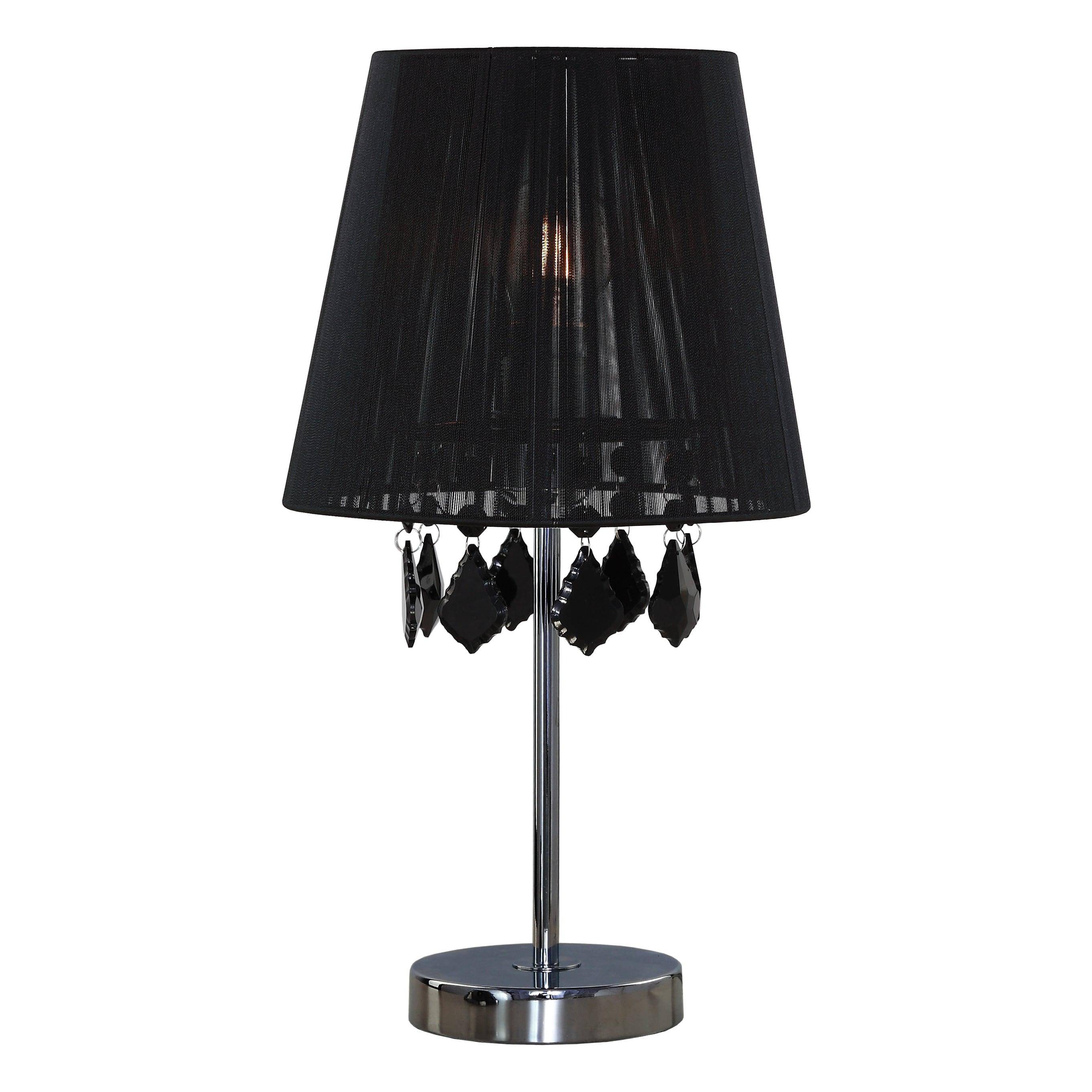 Lampa de birou Negru Glamour mic cu diamante