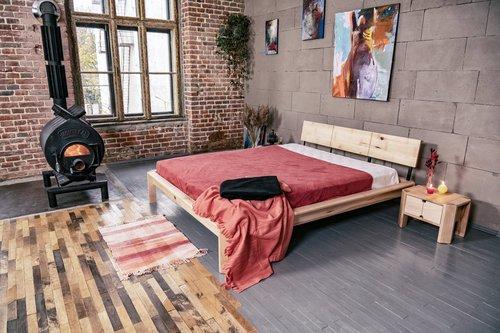 Pat mansardat în dormitor 180x200 lemn uns (ulei de in)