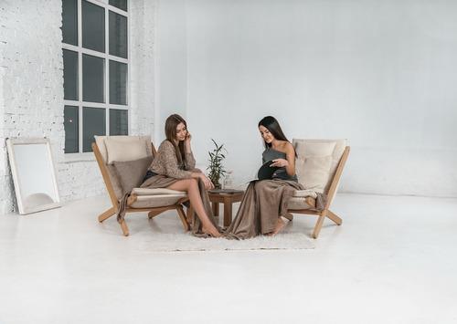 Sezlong Allegro lemn brut - crem