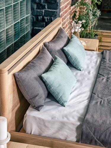 Pat de dormitor Drop Hard 160x200 lemn ulei (ulei de in)