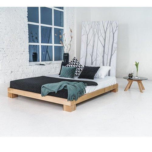 Pat dormitor cub din lemn dublu 160x200 lemn ulei (ulei de in)