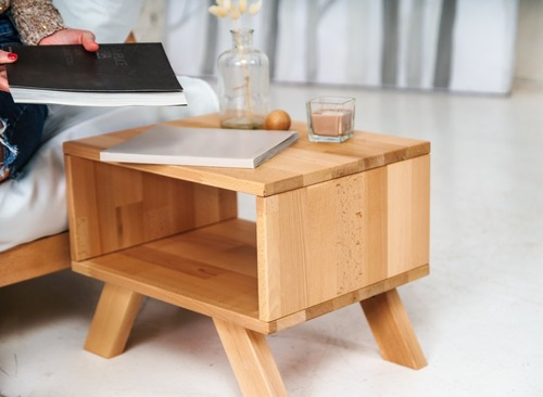 Noptiera Allegro, lemn brut