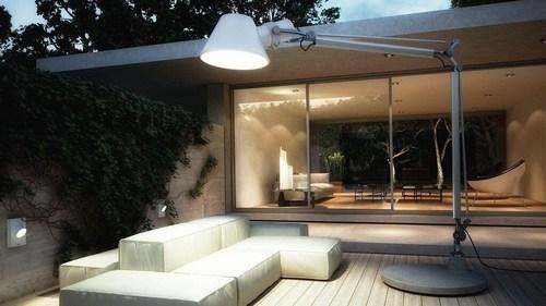 Lampă de exterior Tolomeo XXL cu bază - LED Artemide