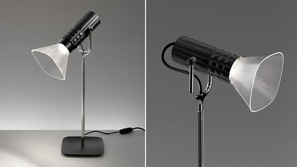 Lampa de masă Artemide FIAMMA negru