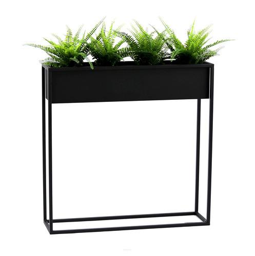 Suport metalic pentru flori CUBO 80x80cm loft negru