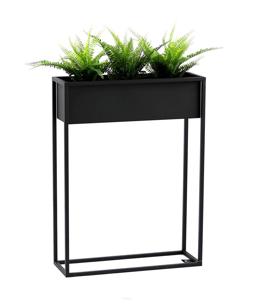 Suport metalic pentru flori CUBO 80x60cm loft box negru