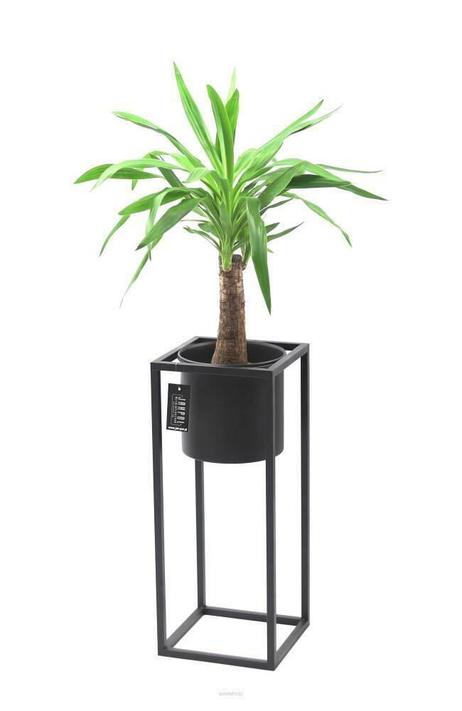 Suport pentru flori din metal cu ghiveci pentru plante UGO 60cm mansardă neagră