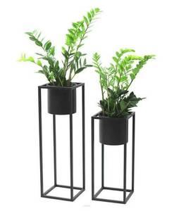 Suport pentru flori din metal cu ghiveci pentru plante UGO 60cm mansardă neagră small 4