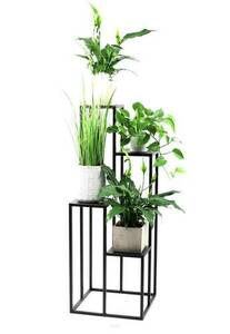 Suport metalic pentru patru flori METALLO 112cm LOFT negru small 1