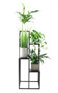 Suport metalic pentru patru flori METALLO 112cm LOFT negru small 3