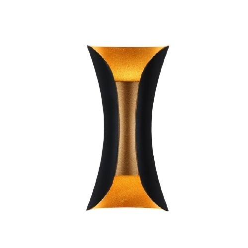 Aplica de perete Abigali Negru-Auriu IP65 2x5W 3000K