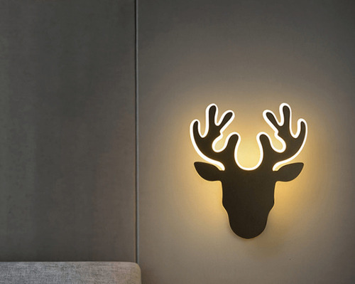 Aplica de perete Deer Abigali Deer 2 Negru