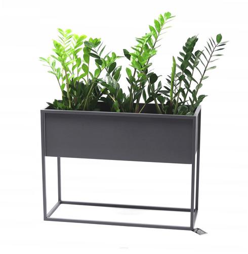 Suport metalic pentru flori CUBO 60x80x30cm loft box gri