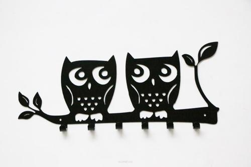 Suport montat pe perete OWL negru