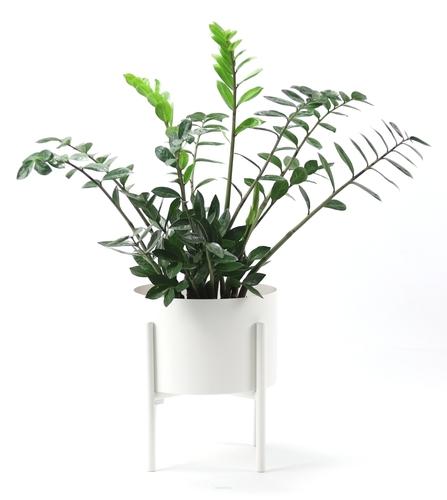 Pat de flori metalic MOYENE Exclusiv 37cm alb