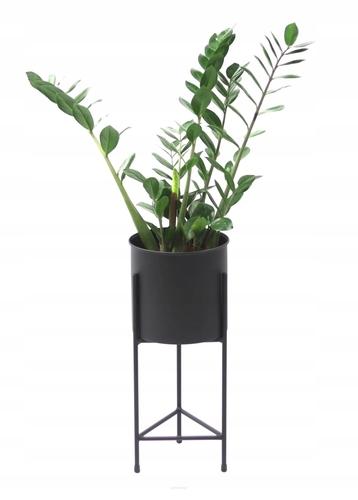 Suport metalic pentru flori LOFT cu ghiveci FIORI 50cm negru