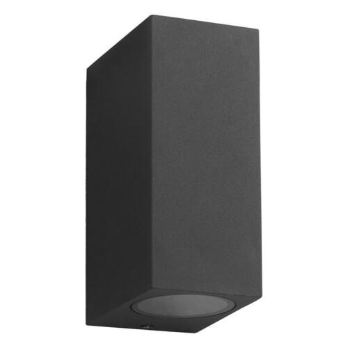 Aplica de perete de gradina neagra Boka 2x Gu10 Ip44 IP44