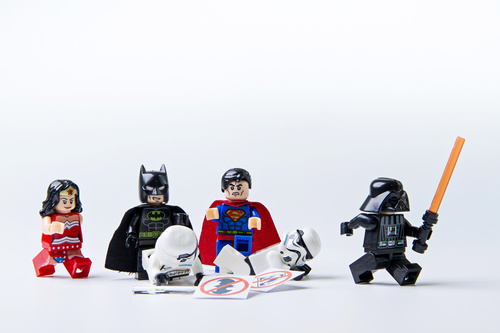 Fotomural lego, femeie minune, Batman, Superman, Star Wars, copii, jucării