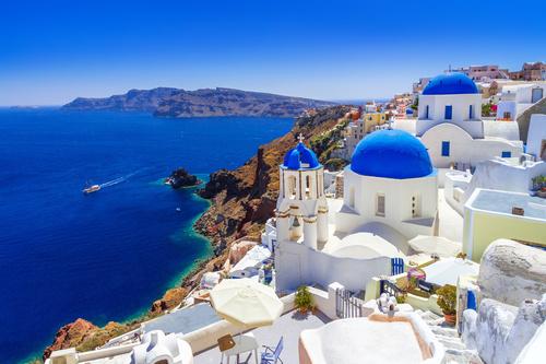 Fotomural Grecia, mare, vacanță, arhitectură, plajă
