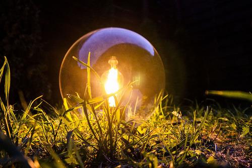 Lampă cu bilă de grădină Ball ball 25 cm, modernă, transparentă