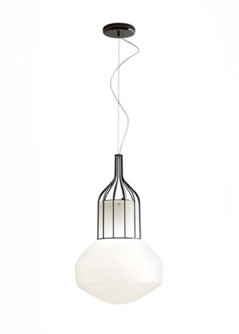 Lampă suspendată Fabbian Aérostat 33cm - crom negru - F27 A11 24