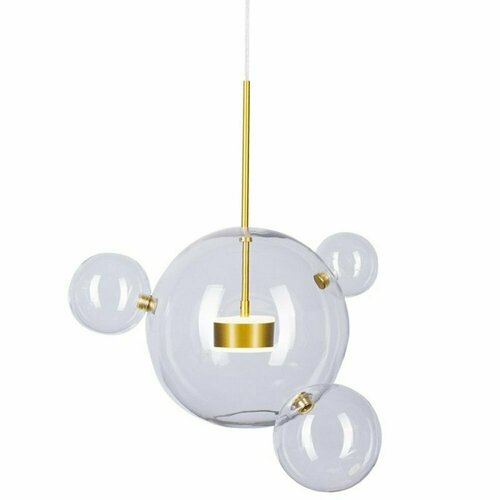 Lampă suspendată BUBBLES 3 + 1 LED aur 3000K