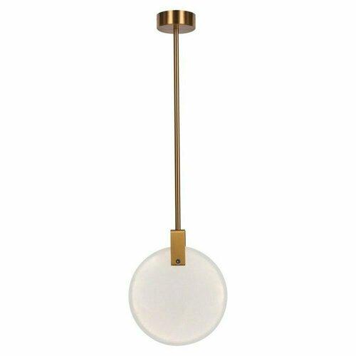 Lampă suspendată MARBLE LED marmură aurie 24 cm