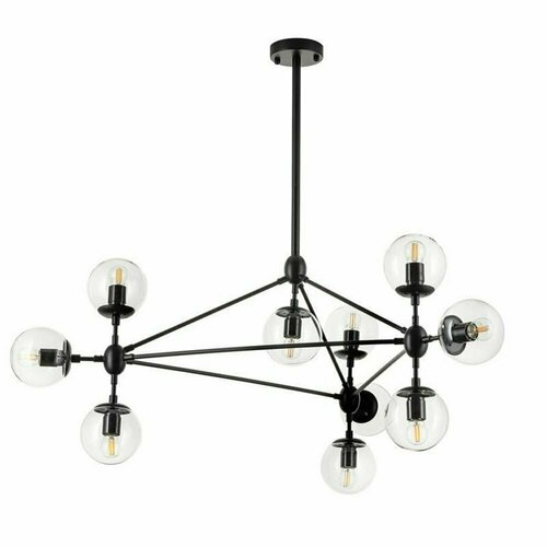 Lampă suspendată ASTRIFERO-10 transparent negru 90 cm