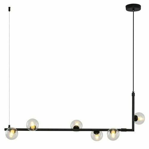 Lampă suspendată SIMPLY, neagră, 90 cm
