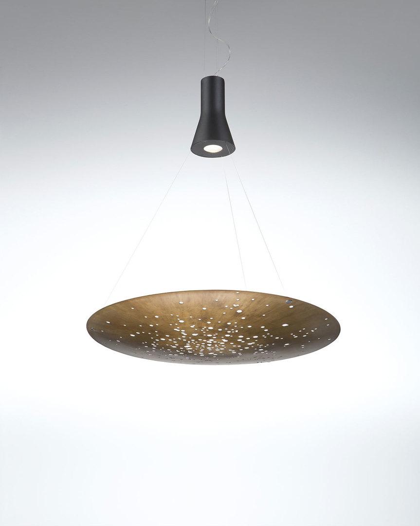 Lampa suspendată Fabbian LENS F46A0176 Bronz