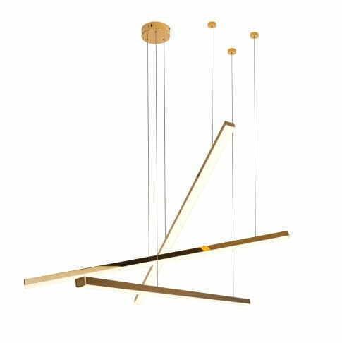 Trio 3 P0426D lampă cu pandantiv auriu reglabilă Max Light