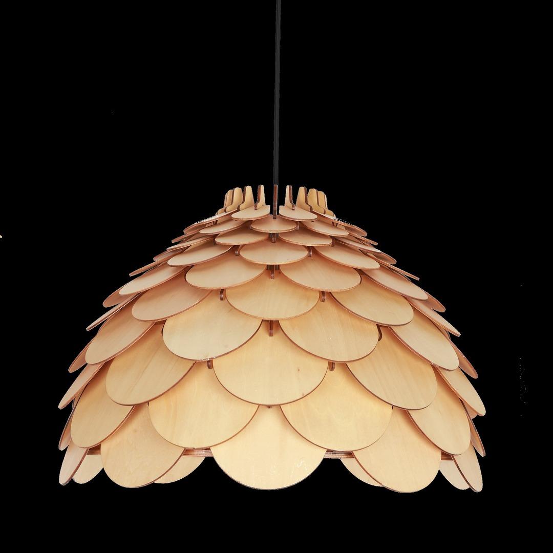 BURGO Lampa suspendată mare Rosetă Maro deschis